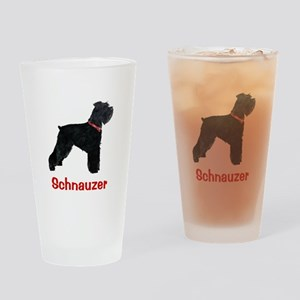Schnauzer Standing Tall Drinking Glass
