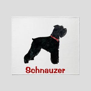 Schnauzer Standing Tall Throw Blanket