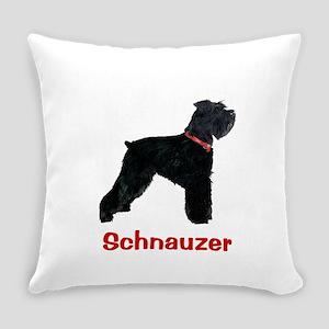 Schnauzer Standing Tall Everyday Pillow