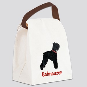 Schnauzer Standing Tall Canvas Lunch Bag