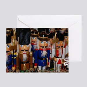 Toy Soldiers Dogtags Christmas Card Greeting Cards