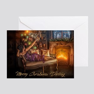 Seductress Christmas Card Greeting Cards