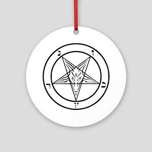 Baphomet - Satan Round Ornament