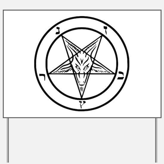 Baphomet - Satan Yard Sign
