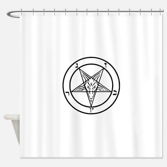 Baphomet - Satan Shower Curtain