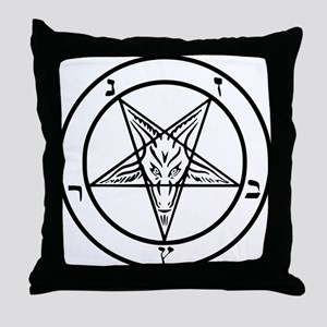Baphomet - Satan Throw Pillow