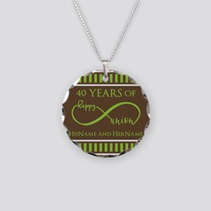 40th Wedding Anniversary Bro Necklace Circle Charm