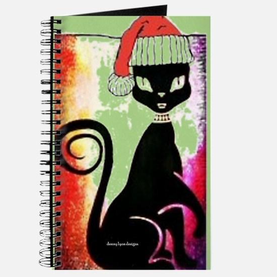 Santa Diva Cat Green Journal