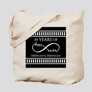 Black White Mr. and Mrs. Wedding Anniver Tote Bag