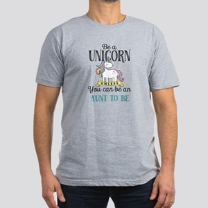 Unicorn AUNT TO BE Men's Fitted T-Shirt (dark)