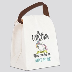 Unicorn AUNT TO BE Canvas Lunch Bag