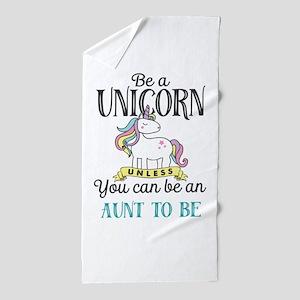Unicorn AUNT TO BE Beach Towel