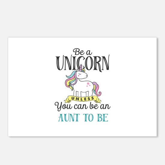 Unicorn AUNT TO BE Postcards (Package of 8)