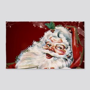 Vintage Santa Claus with many gifts Area Rug