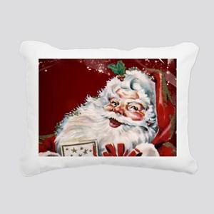 Vintage Santa Claus with many gifts Rectangular Ca