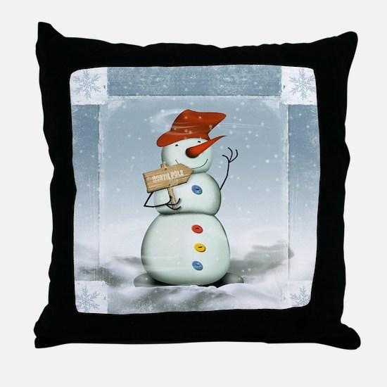Cute Blizzard Throw Pillow