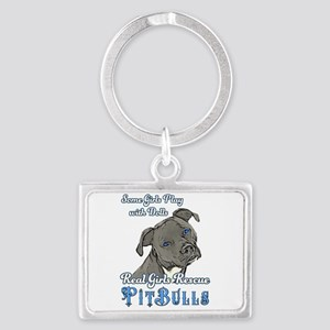 Real Girls Rescue Pitbulls Keychains