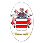 Mannering Sticker (Oval 50 pk)