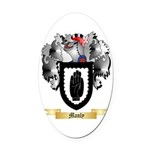 Manly Oval Car Magnet