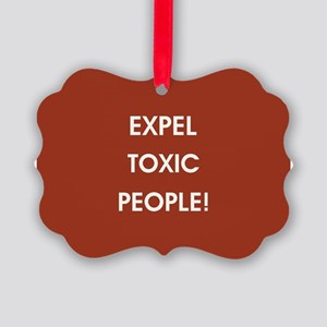EXPEL TOXIC PEOPLE! Ornament