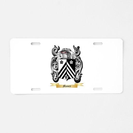 Maney Aluminum License Plate