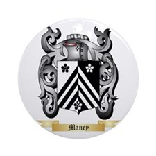 Maney Round Ornament