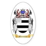 Manescau Sticker (Oval 10 pk)