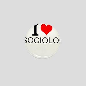 I Love Sociology Mini Button