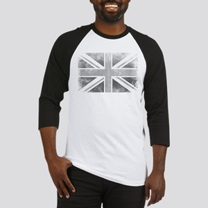 Distressed Union Jack Black and Wh Baseball Jersey