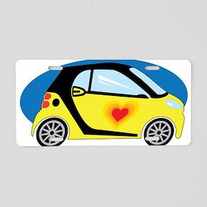 Smart Love Aluminum License Plate