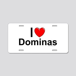 Dominas Aluminum License Plate