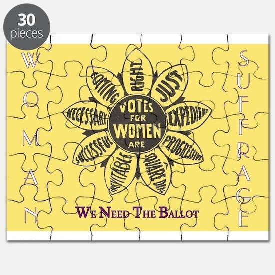Woman Suffrage Emblem Puzzle