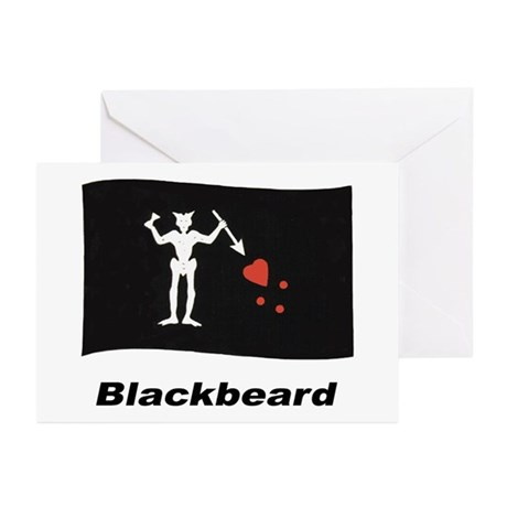 Pirate Flag - Blackbeard Greeting Cards (Pk of 10)