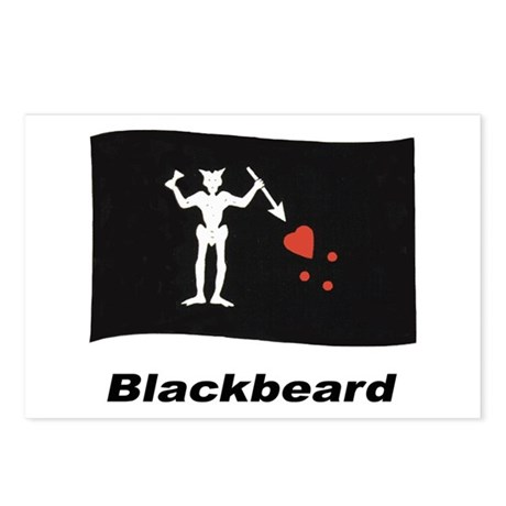 Pirate Flag - Blackbeard Postcards (Package of 8)