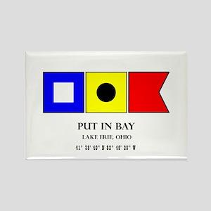 Put in Bay Lake Erie Ohio Nautical Flag Ar Magnets
