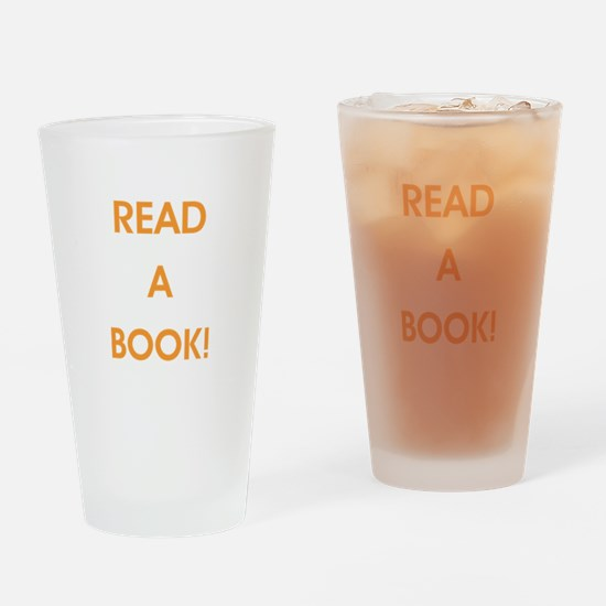 READ A BOOK! Drinking Glass