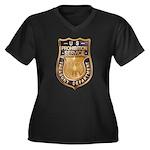 Prohibition Women's Plus Size V-Neck Dark T-Shirt
