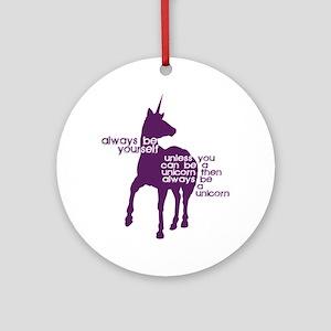Purple Unicorns Round Ornament
