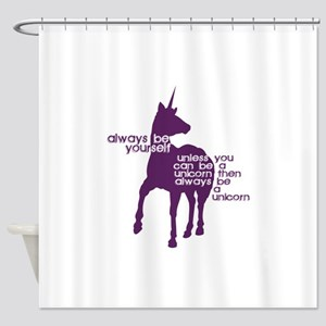 Purple Unicorns Shower Curtain