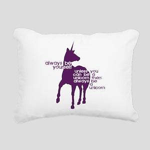 Purple Unicorns Rectangular Canvas Pillow