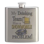 My Drinking Team has a Snowmobile Problem Flask