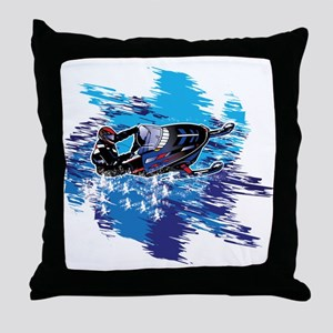Snowmobile GUY Throw Pillow