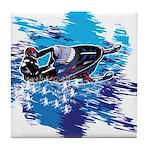 Snowmobile GUY Tile Coaster