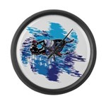 Snowmobile GUY Large Wall Clock