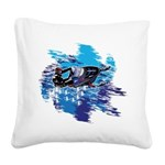 Snowmobile GUY Square Canvas Pillow
