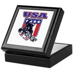 Patiotic Usa Snowboarder Keepsake Box