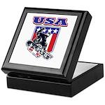 Patiotic Usa Snowboarder Keepsake Box