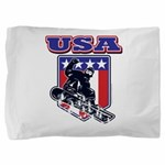 Patiotic Usa Snowboarder Pillow Sham
