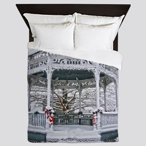 Courthouse Gazebo in the Snow Queen Duvet