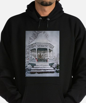 Courthouse Gazebo in the Snow Hoodie